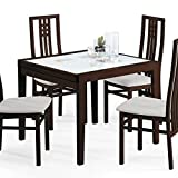 Domitalia Poker-120 Dining Table Walnut and White