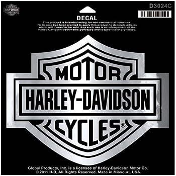 Harley davidson bar shield chrome large decal large size sticker d3024c