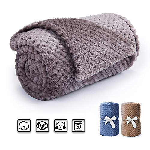 (Msicyness Pet Dog Blanket Fleece Fabric Soft and Warm Pet Throw for Couch,Furniture Chair and Bed 40