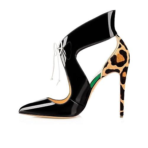 ELASHE - Scarpe con Tacco Donna - con Cinturino Alla Caviglia - 12CM Alto -  Grande Taglia Scarpe  Amazon.it  Scarpe e borse 18bed29b115
