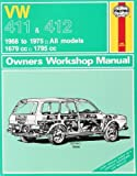 img - for Volkswagen 411 and 412 1968-75 All Models 1679cc and 1795cc Owner's Workshop Manual (Classic Reprints series: Owner's Workshop Manuals) by J. H. Haynes (1988-09-01) book / textbook / text book