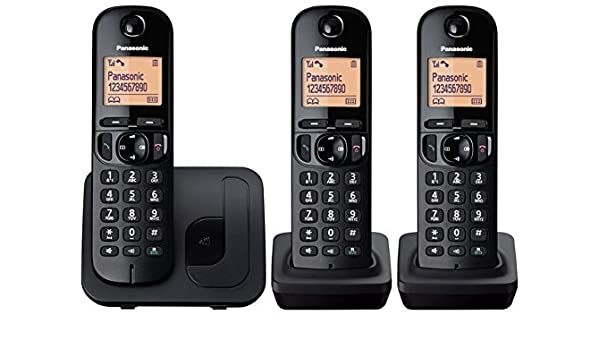 Panasonic KX-TGC213E DECT Identificador de llamadas Negro ...