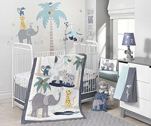 Lambs-Ivy-Animal-Crackers-Jungle-4-Piece-Crib-Bedding-Set-GrayBlue