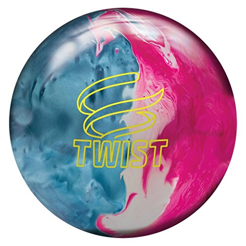Brunswick Bowling Twist Reactive Ball, Sky Blue/Pink/Snow, Size 8 (Best Bowling Ball For Curve)