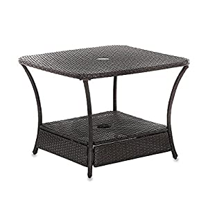 Umbrella Stand Side Table Base In Wicker For Patio Furniture Outdoor  Umbrella Holder Backyard Garden Lawn Sale