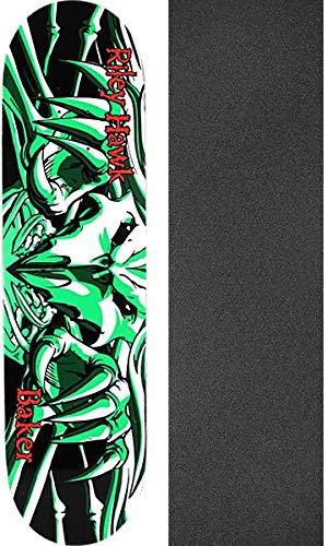 あなたはオフェンス共同選択Baker Skateboards Riley Hawk Falcon 3 Legacy スケートボードデッキ - 8.25インチ x 31.875インチ ブラックマジックグリップテープ付き - 2個セット