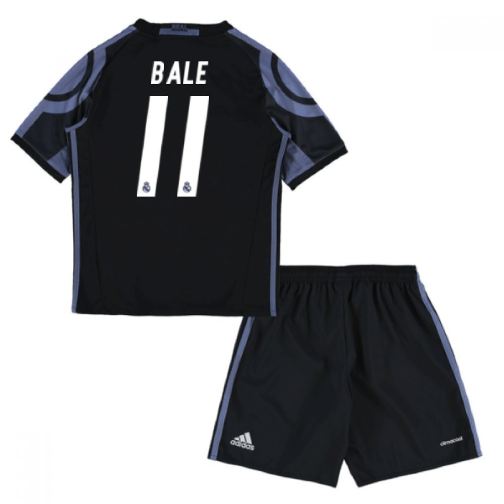 2016-17 Real Madrid Third Mini Kit (Bale 11) B077Z44WRFBlack 4-5 Years
