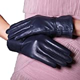 HOMEE Gloves Women Autumn and Winter Warm Thick Tattoo Refers to the Wind Cute,Blue,One Size