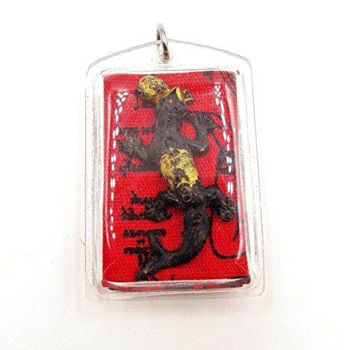lizard-2-tails-thai-amulet-red-yant-nang-kwak-lucky-success-with-amulet-necklace-special-gift