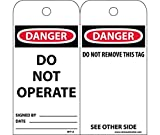 National Marker Company RPT1A''Lock-Out/TAG-Out'' Accident Prevention Tag, Black, Red, White, Black, Red, White (Pack of 25)