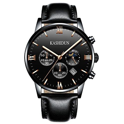 KASHIDUN Men's Casual New Wrist Watches Classic Quartz Watch Luxury Watches For Men-Black.ZH-JzHP