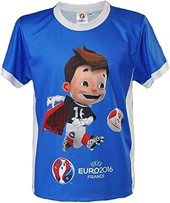 Super Victor – Camiseta oficial UEFA Euro 2016 – Talla de Niño Azul azul Talla:10-12 años: Amazon.es: Deportes y aire libre