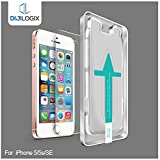 DIJILOGIX Tempered Glass Screen Protector Compatible with iPhone SE, iPhone 5s, iPhone 5c. Easy to Install with Smart Install Tray.