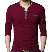 Seven Rocks Men's Cotton Regular Fit Buttoned T-Shirt