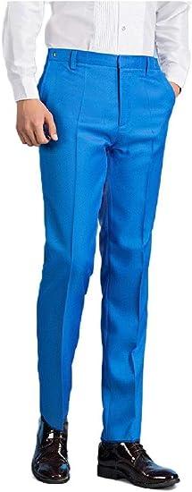 Candiyer メンズストレッチパンツRegと大きくて背の高いサイズのプリーツドレスパンツ