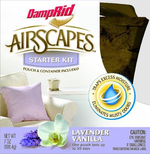 DampRid AS01GSLV Airscapes Dehumidifier Starter Kit, Lavender Vanilla