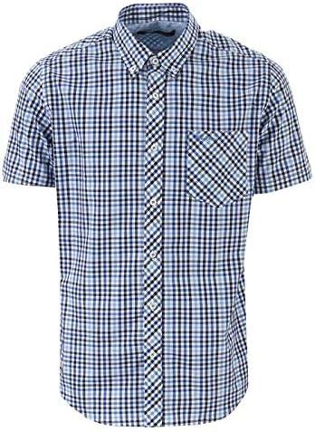 Ben Sherman SS House - Camisa de cuadros para hombre, color azul: Amazon.es: Ropa y accesorios
