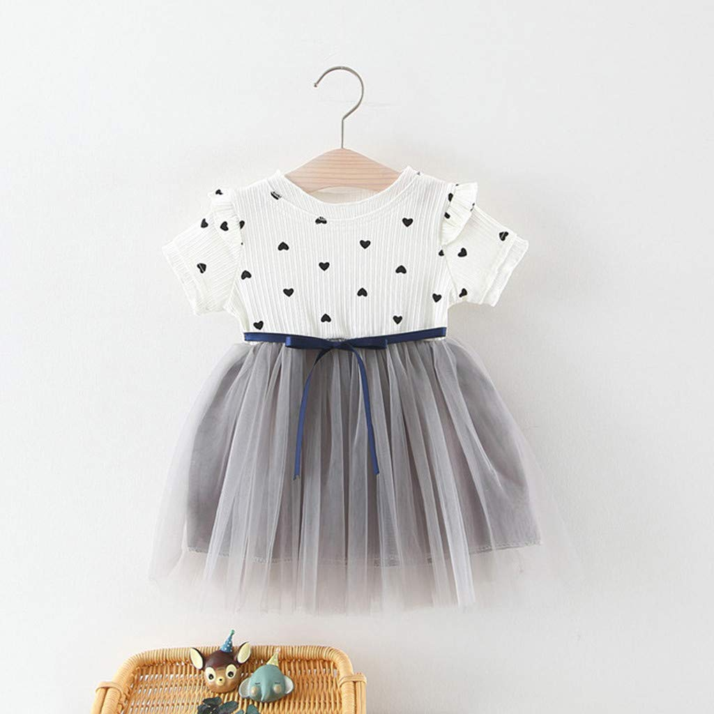 Baiomawzh Vestido de niña Verano 0 a 1 2 3 años Vestidos de ...
