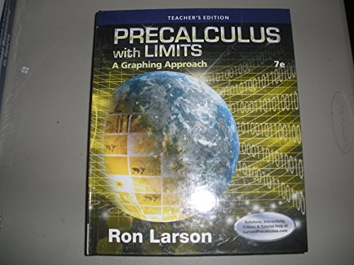 Precalculus With Limits A Graphing Approach 7th Edition Teacher's Edition