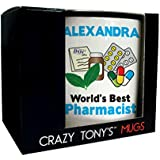 Personalised Gift Ideas For Pharmacists, Worlds Best Pharmacist Occupation Mug by CRAZY TONYS