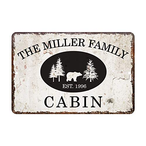 popeven Vintage Distressed Look Cabin Custom Metal Tin Sign for Home Docor Wall Art Room Sign 7 x 10 inches