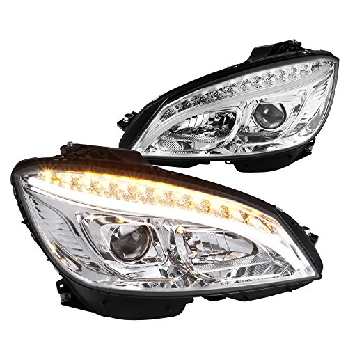For Mercedes Benz W204 C-Class Replacement Strip LED Signal Lamp Projector Headlights