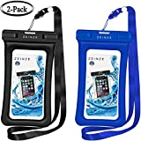 "ZEINZE Floating Waterproof Case IPX8 Universal Waterproof Phone Case Bag Pouch Drg Bag iPhone 8/8Plus/7/7Plus/Samsung Galaxy S8/S7 LG V20 Google Pixel HTC10 Devices Up to 6""(Black+Blue)"