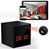 , Hidden Camera Spy Clock Wireless with Night Vision Cam, Wi-Fi, HD Video Recorder, Motion Detection Surveillance Gear, Live Video, Voice and Audio Streaming Android & iOS Smartphone App Controls
