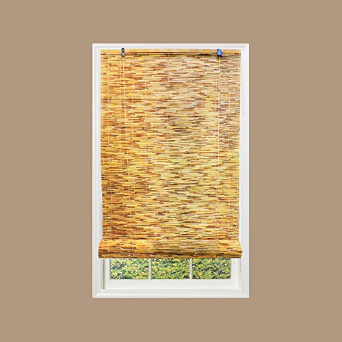 Art Wood Roll Up Blinds: Radiance 0360366 Natural Reed Woven Wood Bamboo Roll Up