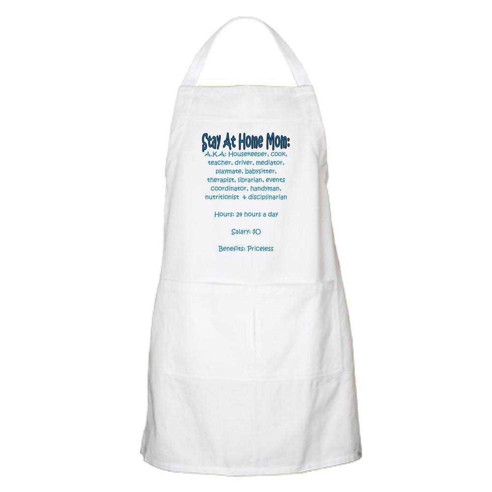 White apron hours - Amazon Com Cafepress Stay At Home Mom Jd Bbq Apron Kitchen Apron With Pockets Grilling Apron Baking Apron Home Kitchen