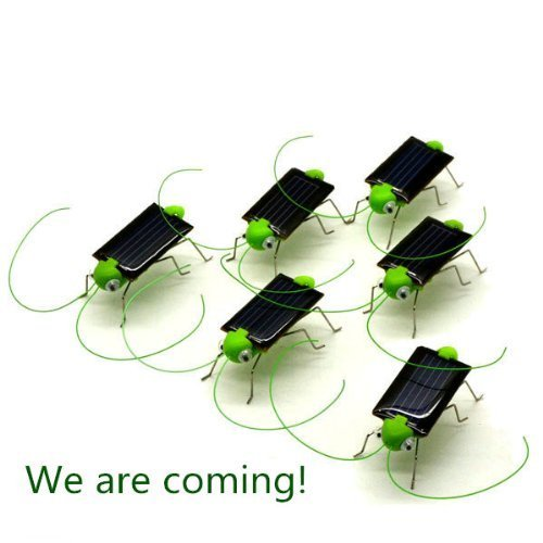 Solar Powered Grasshopper 5 pieces/pack