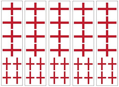 40 Tattoos: English Flag, England Party (Halloween Temporary Tattoos Uk)