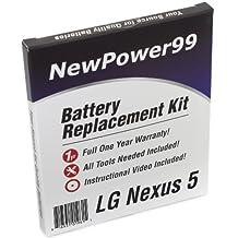 LG Nexus 5 Battery Replacement Kit with Installation Video, Tools, and Extended Life Battery (Asus Nexus 5, Nexus7C, Nexus 5 1st Gen).