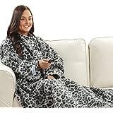 Snuggie Blanket - Grey Leopard