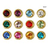 Studex M-997 50 Pair Birthstone Ear Piercing Kit