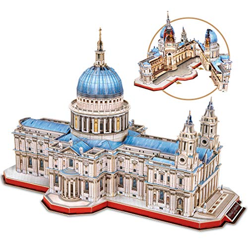 Cubicfun 3D Puzzles Moveable Architecture Model Large Saint Paul's Cathedral Puzzles for Adults Children, Building Model Kits Craft Toys, 643 Pieces