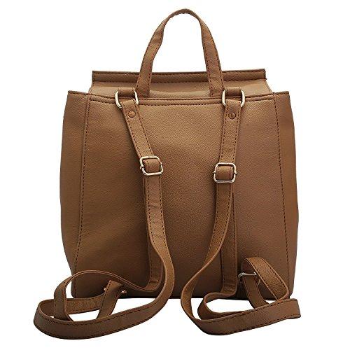 b04ec9365156d ... Lapis O Lupo Taupe Damen Rucksack Beige Designer Satchel Taschen mit  Multi Pocket ...