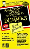 Microsoft Office for Windows 95 for Dummies Quick Reference, Doug Lowe, 1568849788