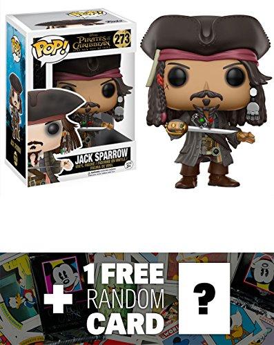 Jack Sparrow: Funko POP! Disney x Pirates of the Caribbean: Dead Men Tell No Tales Vinyl Figure + 1 FREE Classic Disney Trading Card Bundle (12803)