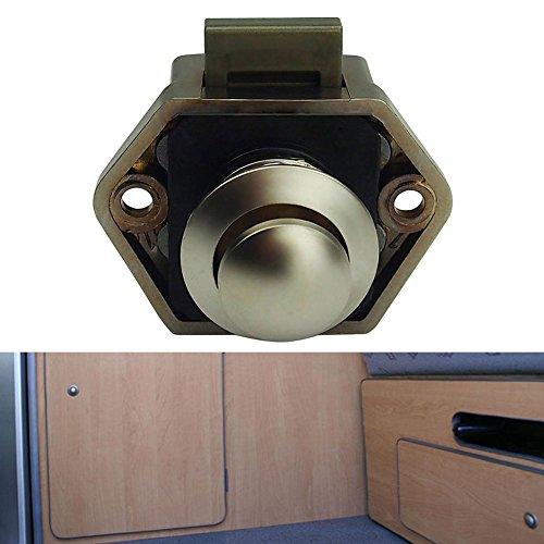 Push Latch Button - UEB Cabinet Lock ,Keyless Push Button Lock Catch for Yachts, Rv Drawers, Vessel Desks, Cabinets,Doors