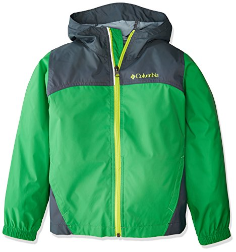 Columbia Big Boy's Glennaker Rain Jacket, Fuse Green, Mystery, L by Columbia