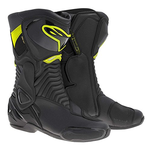 (Alpinestars SMX-6 Men's Motorcycle Street Boots (Black/Yellow, EU Size 36))