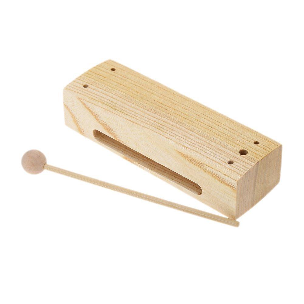 Quatro Percussion Single Wood Block and Mallet