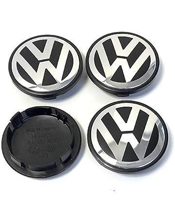 Boxcars Tapacubos Llanta de Aluminio 65mm, Tapa Centro llanta, Compatible Modelo VW: Golf