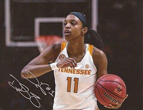 Diamond DeShields WNBA Sky signed Tennessee Lady Volunteers 8x10 photo Vols 4 - Autographed College Photos