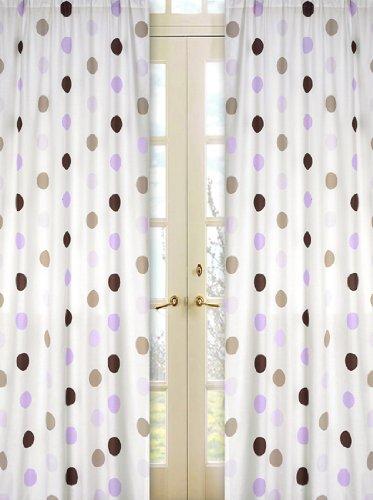 Sweet Jojo Designs 2-Piece Purple and Brown Mod Dots Window Treatment Panels