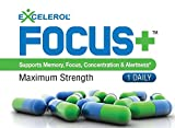 FOCUS+ Brain Supplement - Doctor Recommended Brain Health And Memory Pills - Supports Focus, Concentration & Alertness - Maximum Strength Brain Vitamin Powerful Mental Clarity Booster Support