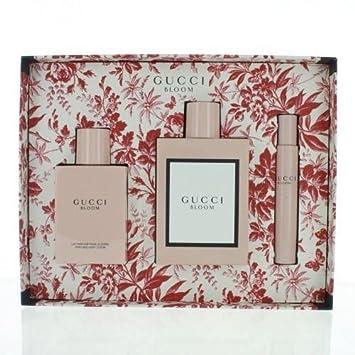 e06026265ce Amazon.com   Gucci Bloom By Gucci 3 Piece Gift Set - 3.3 Oz Eau De Parfum  Spray