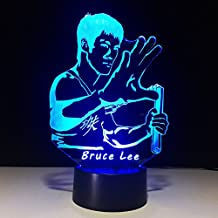 Ancaixin 7 Colors Bruce Lee Discoloration Optical Illusion Lamp Nightlight USB Touch Button LED Desk Table Warm Light