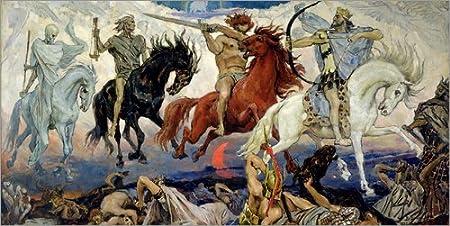 Posterlounge Cuadro de Aluminio 80 x 40 cm: The Four Horsemen of The Apocalypse de Victor Mikhailovich Vasnetsov/Bridgeman Images